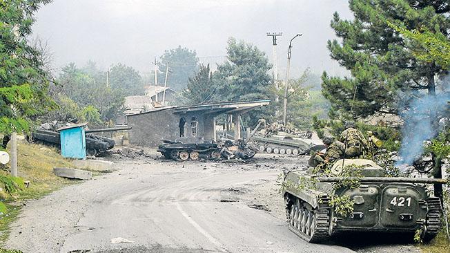 Цхинвал, август 2008 года.