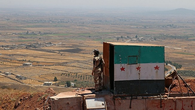 Сирийские военные на Голанских высотах.