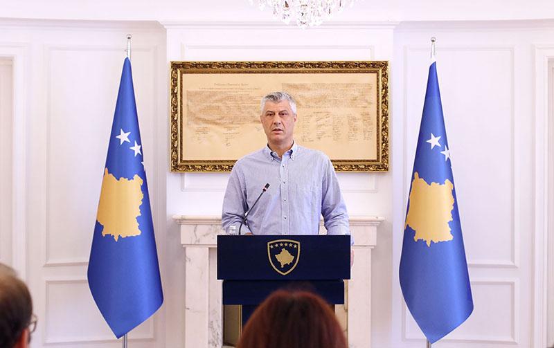 Президент самопровозглашенной Республики Косово Хашим Тачи.