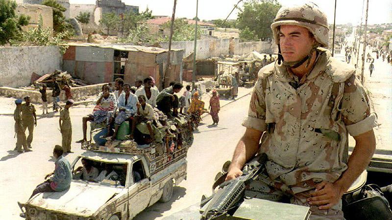 Американские военные в Сомали.