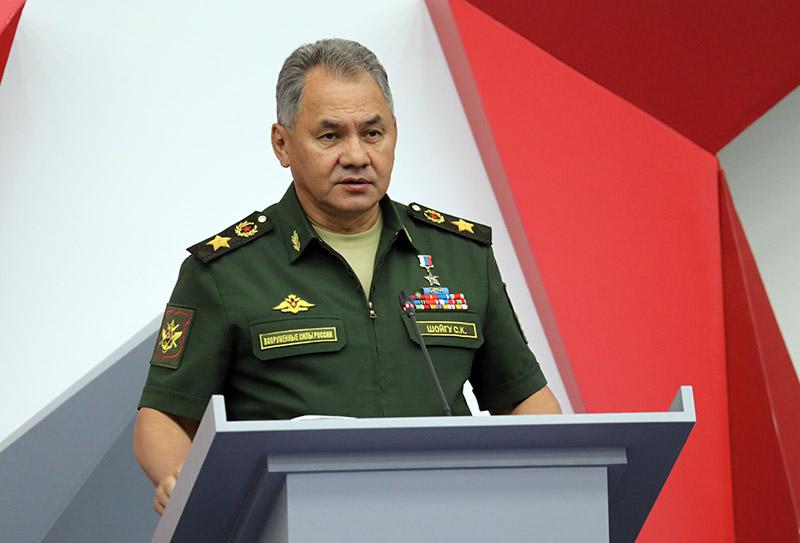 Министр обороны России генерал армии Сергей Шойгу открывает форум «Армия-2018».