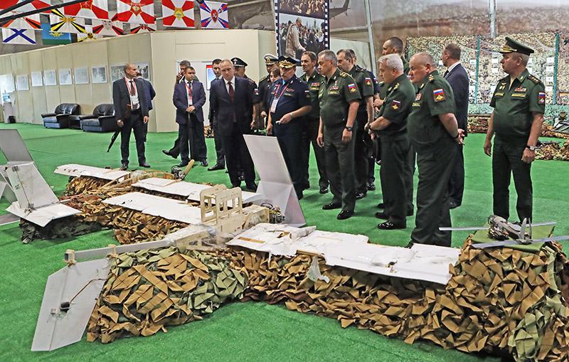 Сбитые беспилотники террористов.