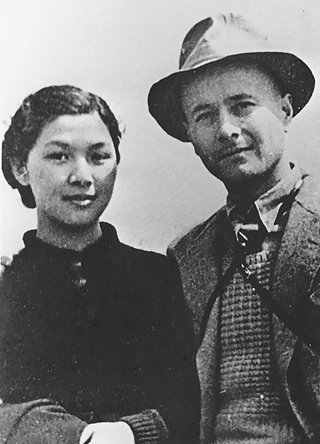 Югославский журналист Вукелич с женой.