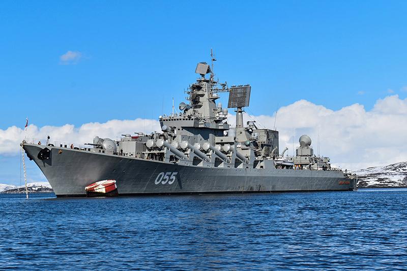 Ракетный крейсер Северного флота «Маршал Устинов».