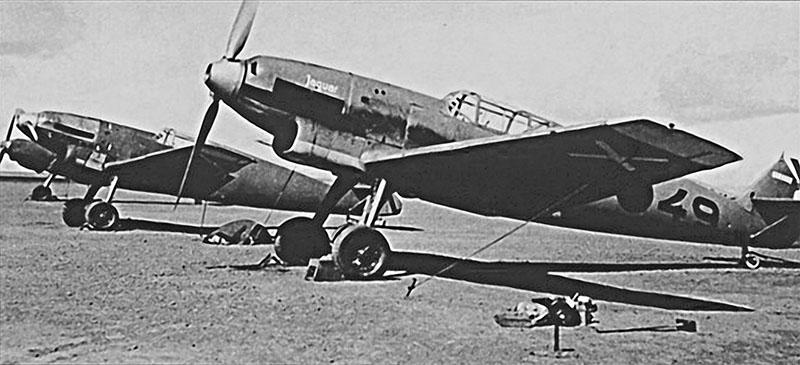 Немецкие истребители «Мессершмитт-109» из легиона «Кондор», воевавшие в Испании.