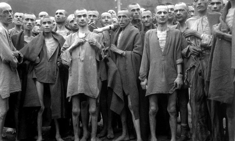 Заключенные концлагеря Эбензее.