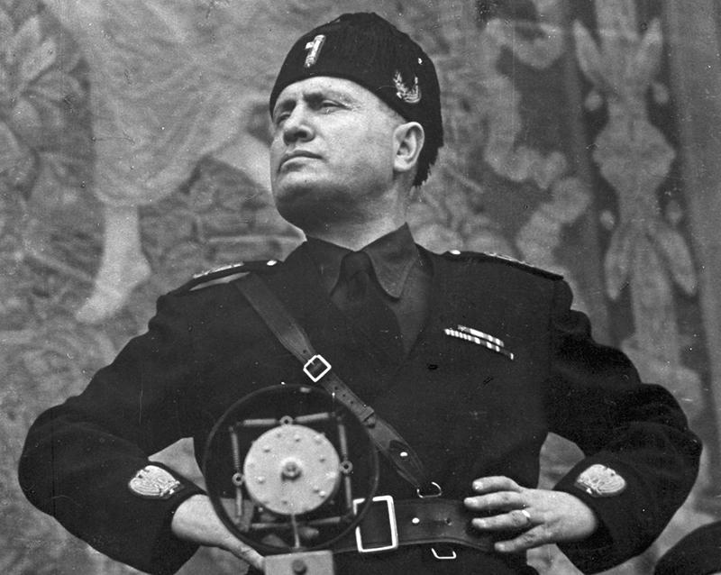 Премьер-министр Италии, лидер Национальной фашистской партии Бенито Муссолини.