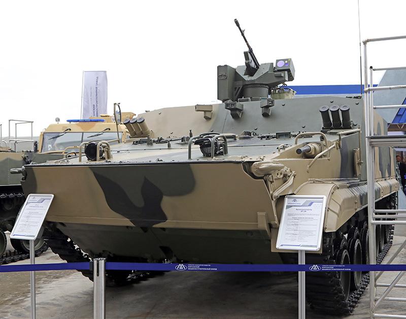 Бронетранспортер БТ-3Ф стал одной из самых значимых новинок на Международном военно-техническом форуме «Армия-2018».