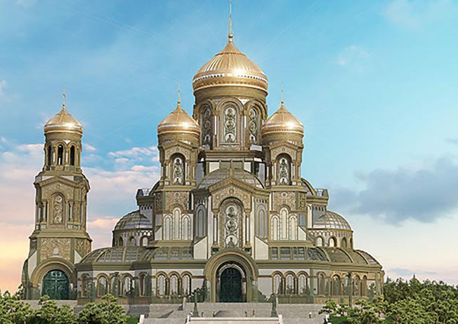 Строительство главного храма Вооруженных сил.