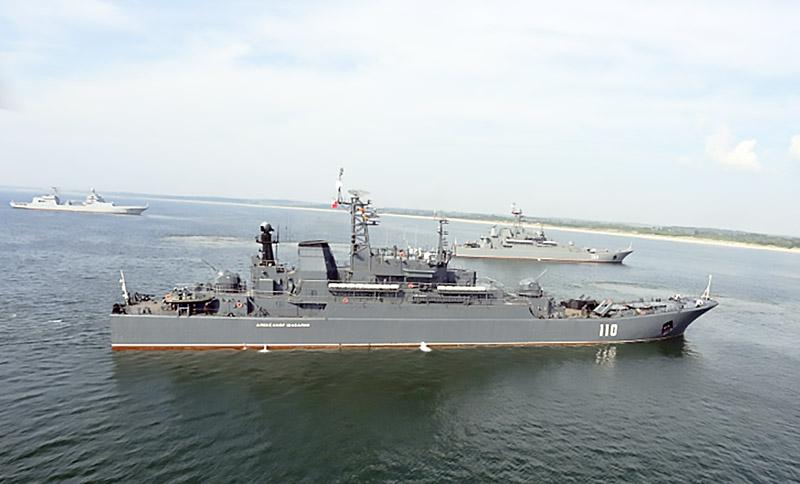 Планируется взаимодействие между сухопутными группировками и силами Военно-Морского флота.
