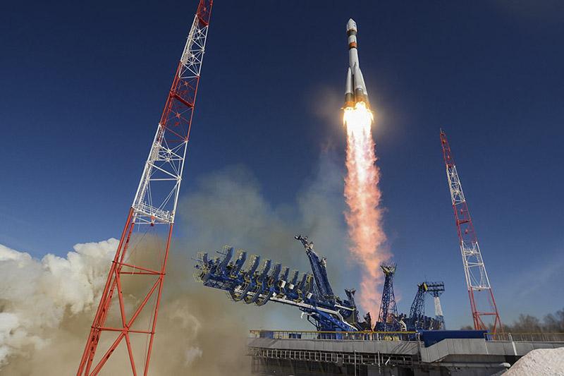 Запуск ракеты «Союз».
