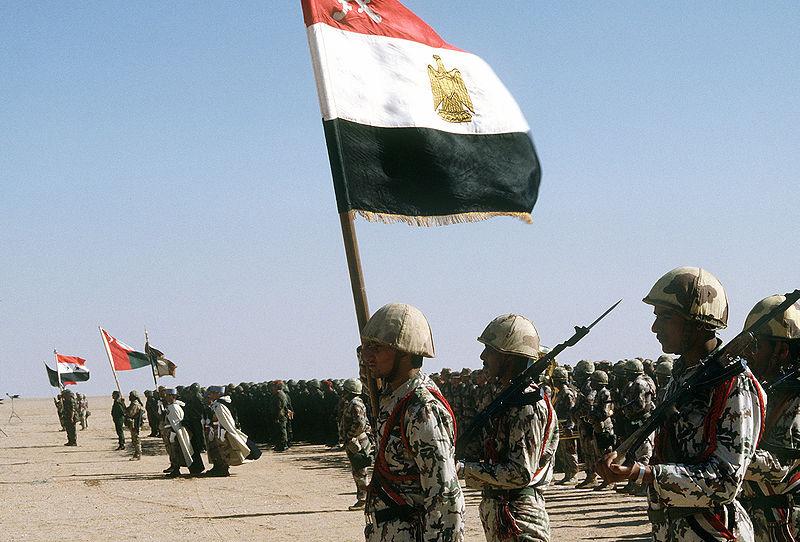 Египетские солдаты принявшие участие в операции «Буря в пустыне».