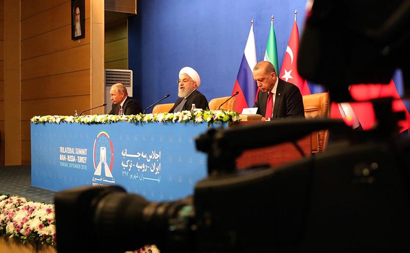 Трехсторонний саммит в Тегеране.