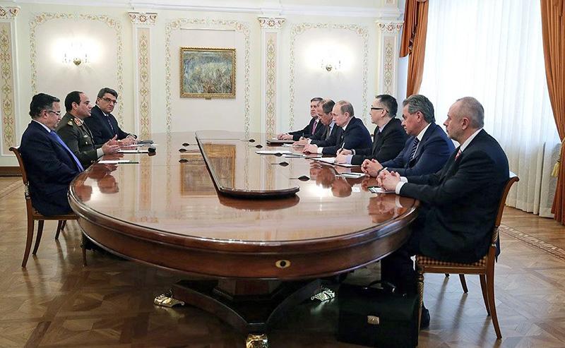 Министр обороны Египта Ас-Сиси на переговорах в Москве.