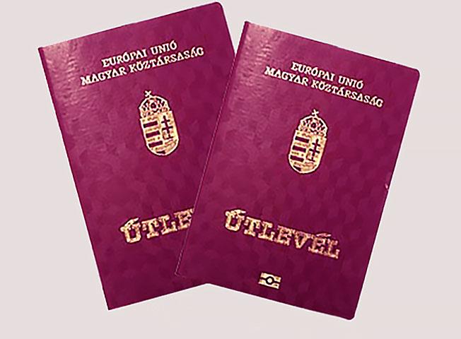 Венгерские паспорта вручаются этническим венграм в Закарпатье.