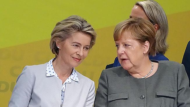 Урсула фон дер Ляйен числится в этом неофициальном списке преемников Меркель на посту канцлера.
