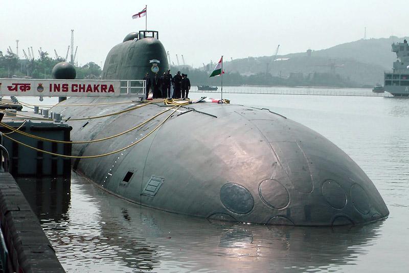 Индийская подлодка Chakra - взятая в аренду отечественная атомная подводная лодка проекта 971 К-152 «Нерпа».