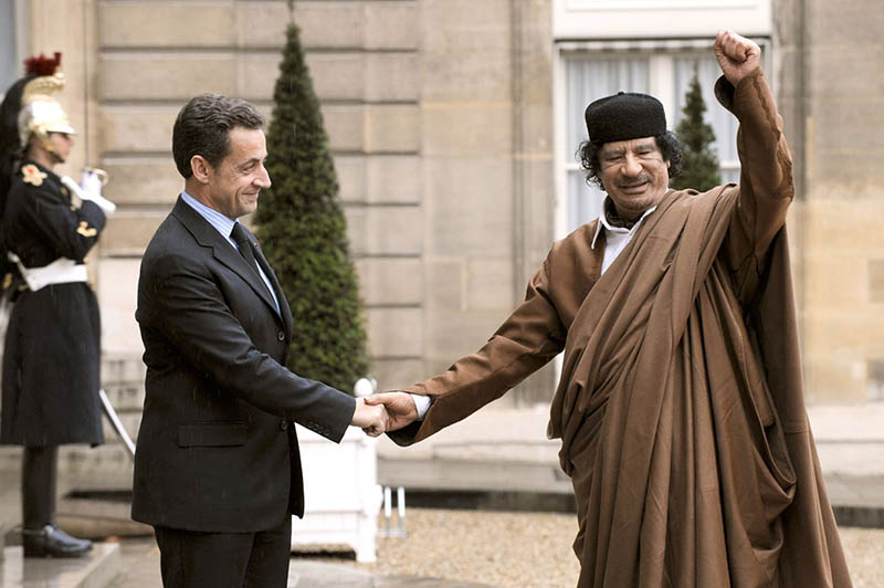 Каддафи финансировал предвыборные кампании французского президента Николя Саркози.