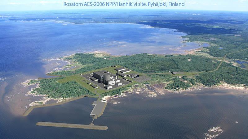 «Росатом» участвует в строительстве АЭС «Ханхикиви-1».