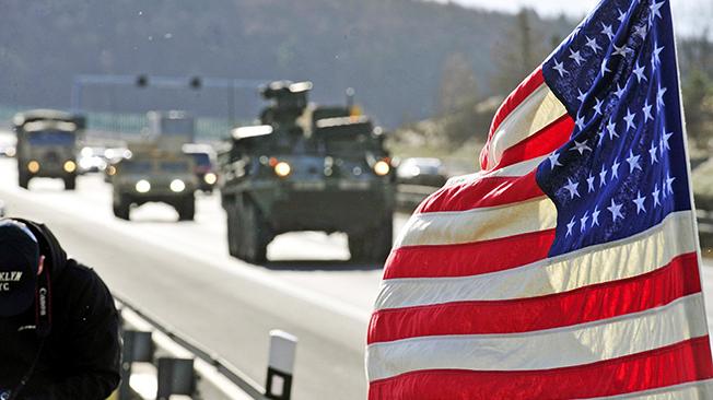 Американские военные чувствуют себя в Европе как дома.