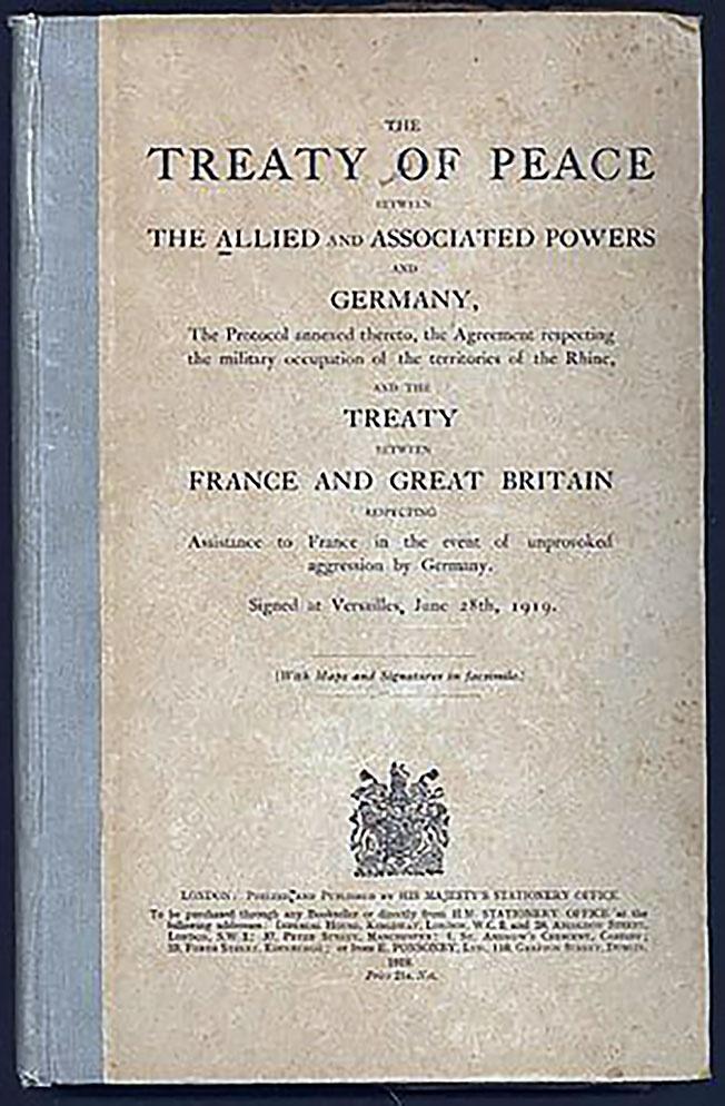 Полный текст Версальского мирного договора подписанного 28 июня 1919 года.