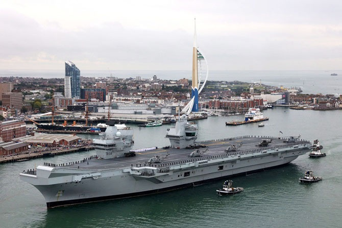 Британский авианосец взял имя британской королевы Елизаветы I Тюдорсокой.