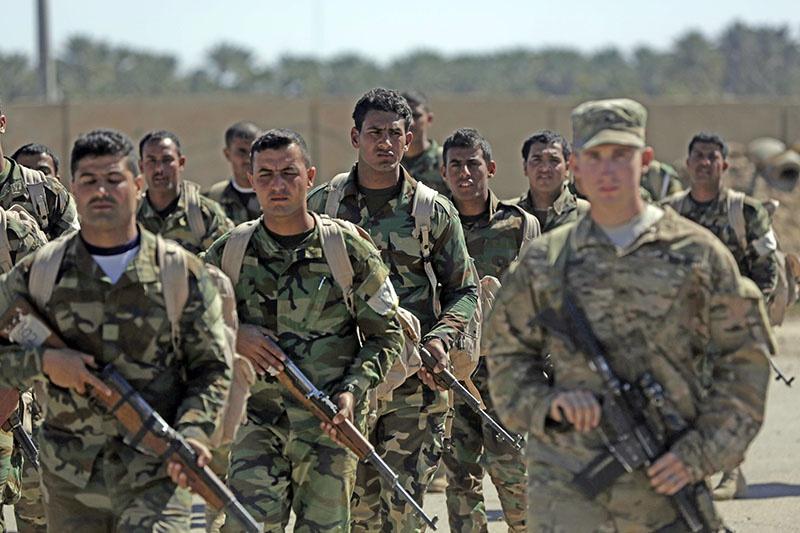 Обучение иракских подразделений в ходе подготовки к штурму Мосула в 2016 году.