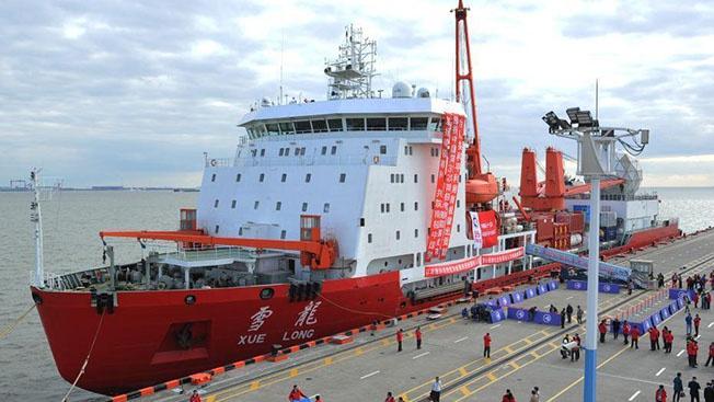 35-я всекитайская антарктическая экспедиция отправляется к берегам Антарктиды.