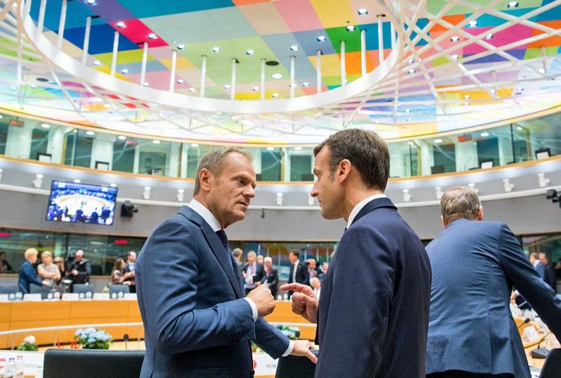 Эмманюэль Макрон и Дональд Туск союзники в формировании евроинтеграционной коалиции.