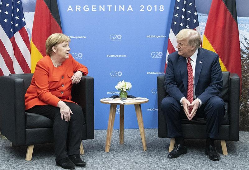 В Аргентине Трамп и Меркель не всегда понимали друг друга.