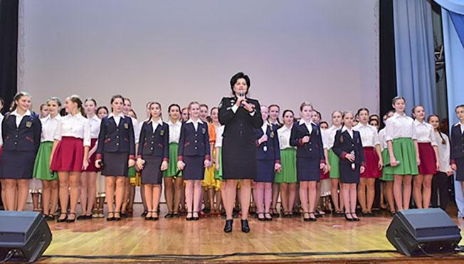 Замминистра обороны Татьяна Шевцова в Пансионе воспитанниц Минобороны.