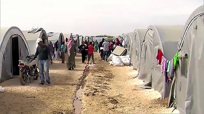 Лагерь мигрантов в Турции.