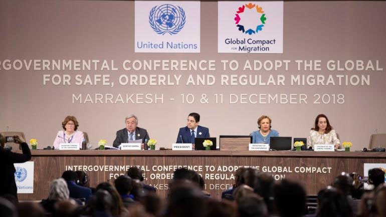 Межправительственная конференция для принятия глобального договора о миграции в Марокко.