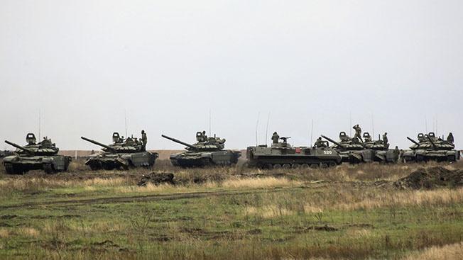 Учения с использованием тактики «танковая карусель».