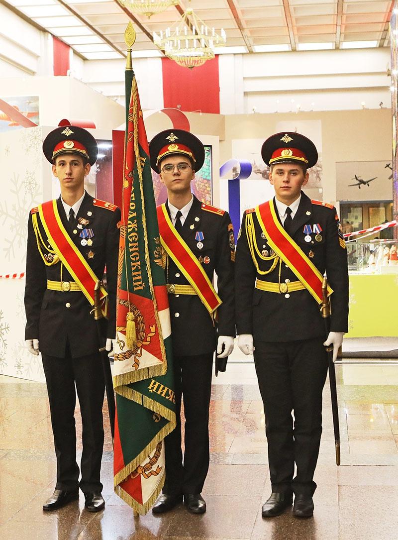 Знаменная группа «Преображенского кадетского корпуса».