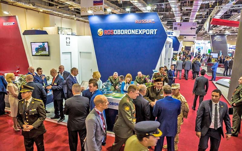 Российский стенд на выставке оборонной и военной промышленности EDEX 2018.