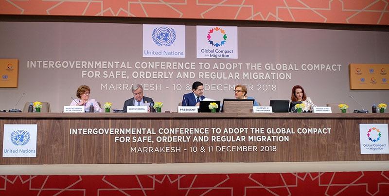 Межправительственная конференция в Марракеше.