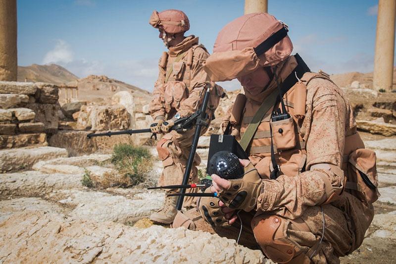 Воины инженерных войск: разминировали Пальмиру.
