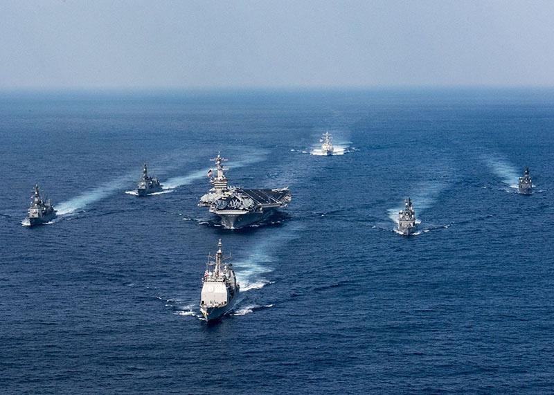 Корабельная группировка ВМС США и НАТО.