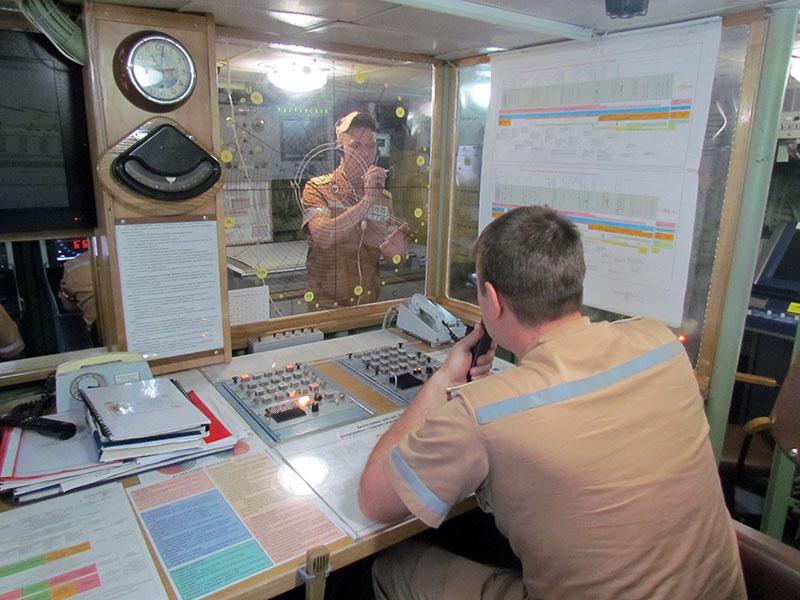 Боевой информационный пост корабля.