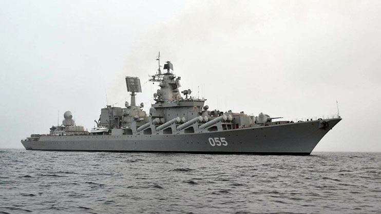 «Маршал Устинов» - ракетный крейсер проекта 1164 - спущен на воду в феврале 1982 года.