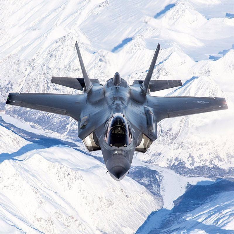 У Lockheed Martin F-35 Lightning II есть ограничения по температурно-скоростному режиму - при температуре минус 35 он не может летать на сверхзвуке из-за опасности повреждения обшивки, обеспечивающей его «незаметность».