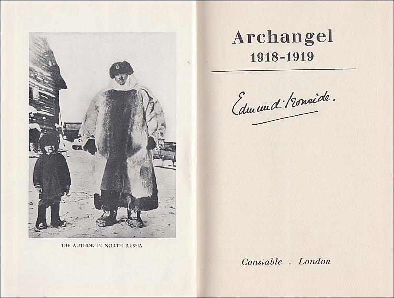 Мемуары генерала Айронсайда «Archangel, 1918 - 1919».