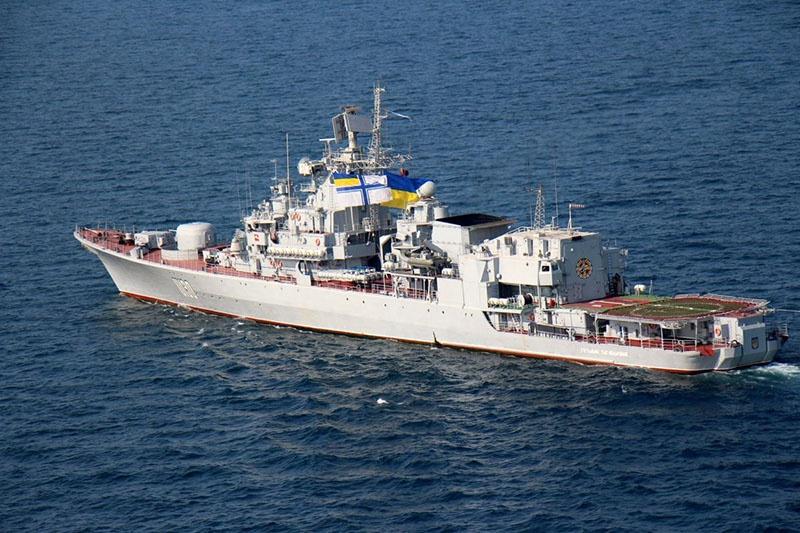 Единственный более-менее боеспособный корабль украинского флота - флагманский фрегат «Гетман Сагайдачный».