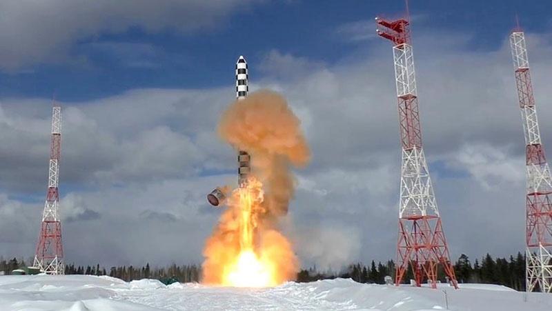 Испытательный запуск МБР РС-28 «Сармат».