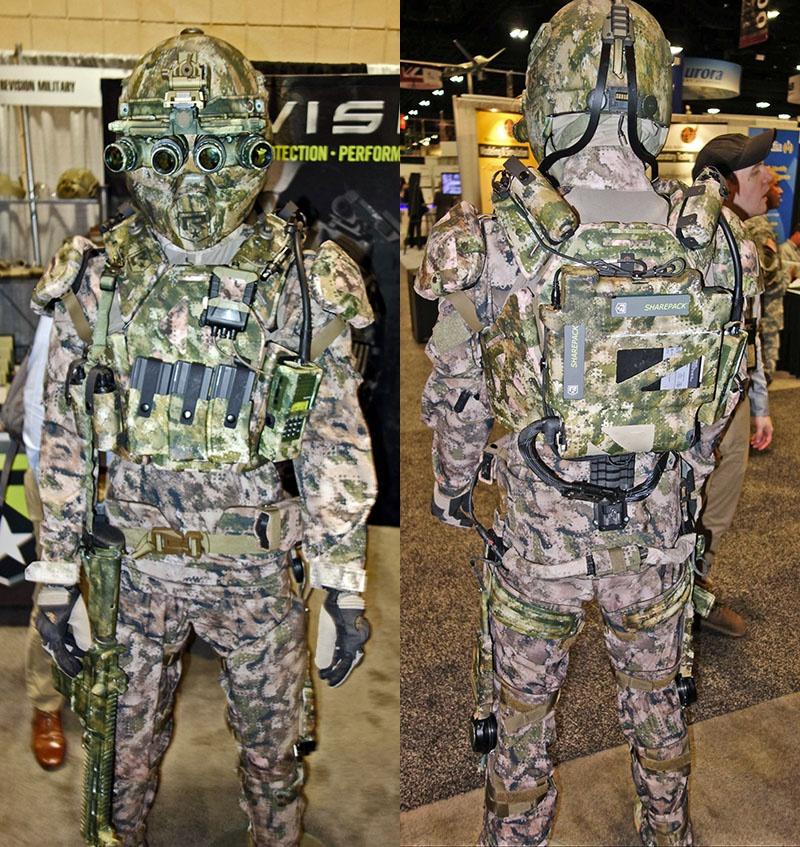 Роботизированные костюмы TALOS на выставке вооружения.
