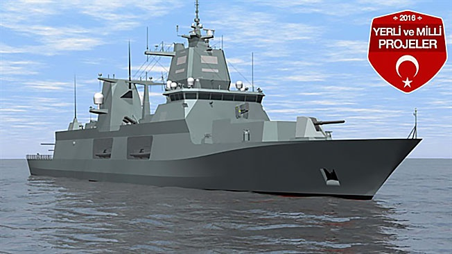 Турецкий фрегат проекта TF-2000.