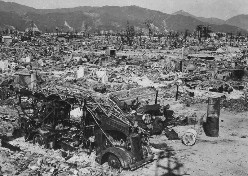 Хиросима после атомной бомбардировки США.