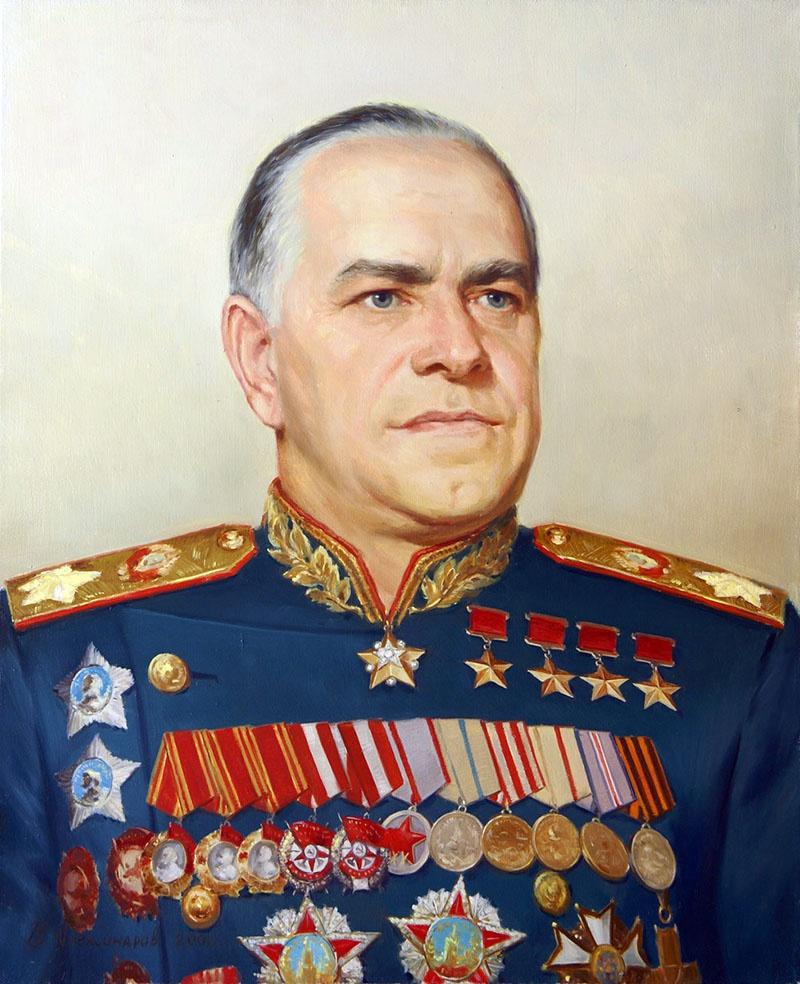 Парадный портрет маршала Г.К.Жукова.