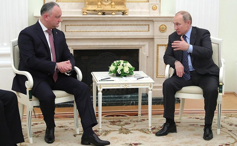 Владимир Путин принял в Кремле Президента Республики Молдова Игоря Додона.
